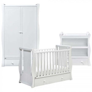 East Coast Nursery Cot2bed Room Set Nebraska White