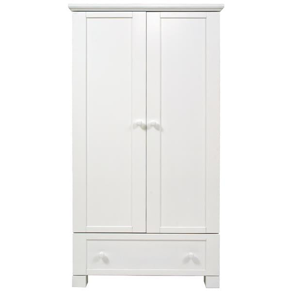 East Coast Nursery Wardrobe Double Montreal White