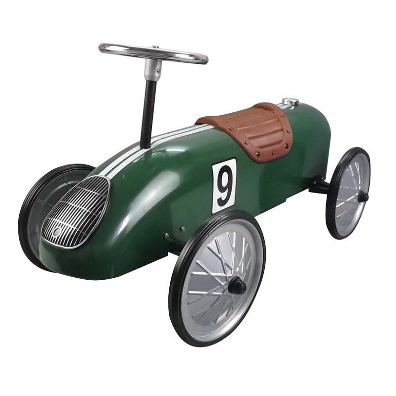 Retro Racer Sit n Ride Car Green - Pink and Blue Baby Boutique