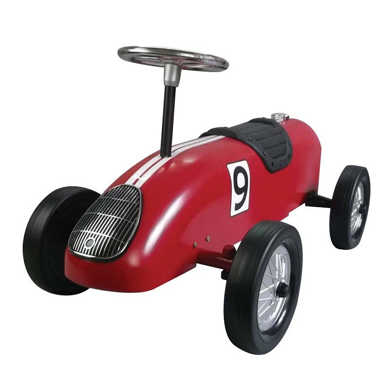 Retro Racer Sit n Ride Car Red - Pink and Blue Baby Boutique