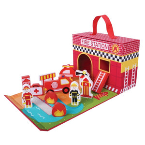 Foldaway Fire Station - Pink and Blue Baby Boutique