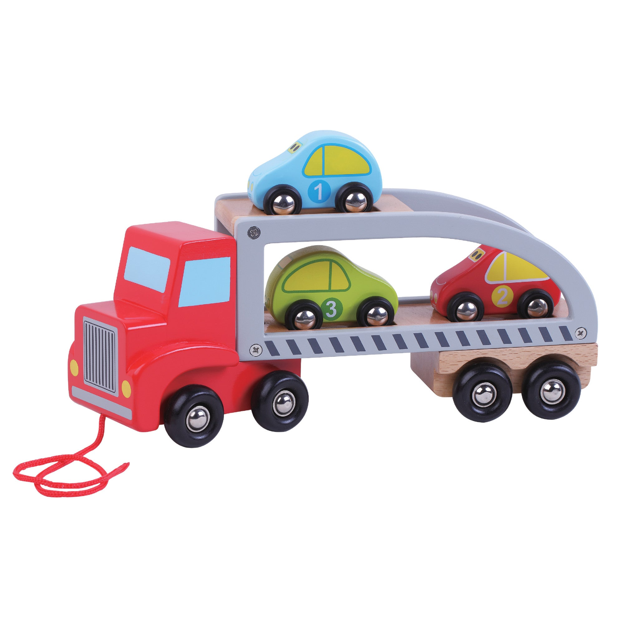 Wooden Car Carrier - Pink and Blue Baby Boutique