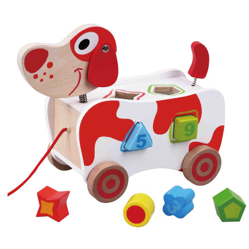 Pull Along Dog Shape Sorter - Pink and Blue Baby Boutique