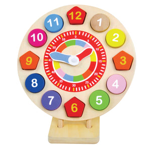 Wooden Clock - Pink and Blue Baby Boutique