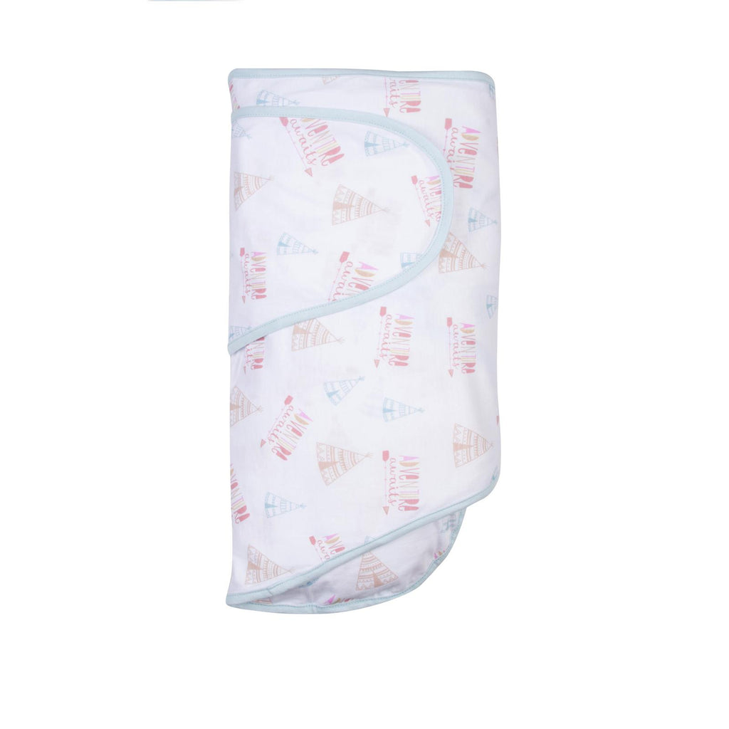 Miracle Blanket Swaddle Adventure Awaits - Pink and Blue Baby Boutique