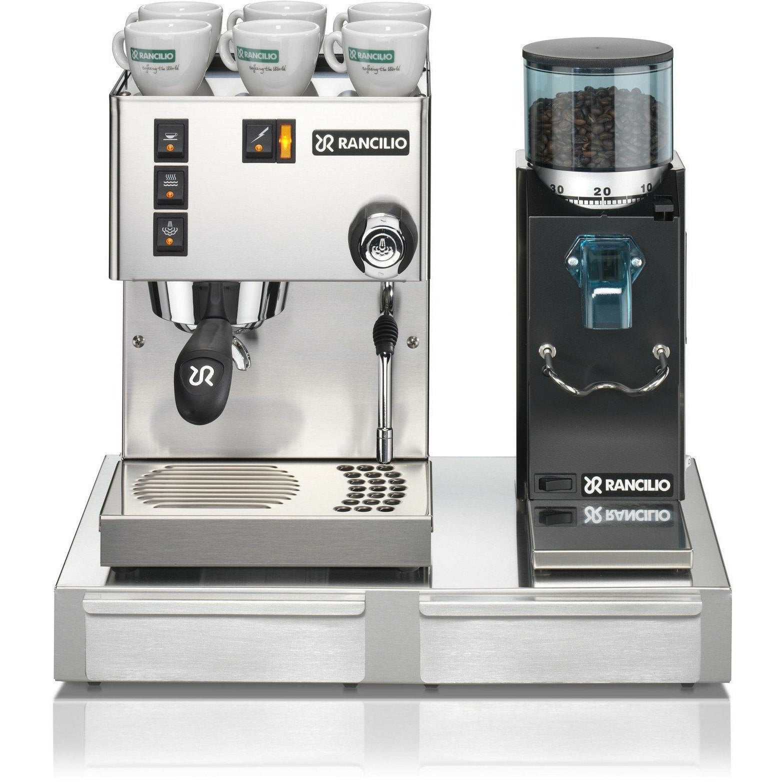 Electronic Rancilio Coffee Machine For Sale buy coffee machines for your home online rancilio silvia v5 rocky doserless grinder base