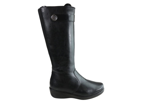 Comfortshoeco Lauria Womens Leather Knee High Boots Made In Brazil