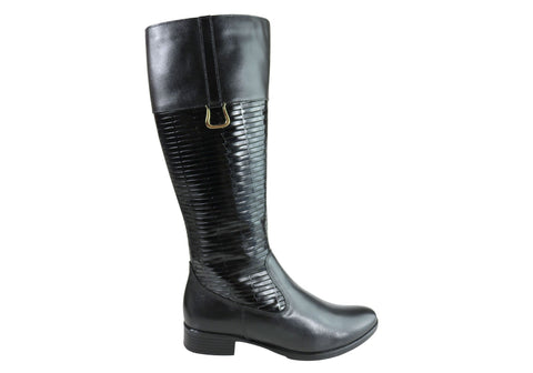 Dazzani June Womens Comfortable Leather Knee High Boots Made In Brazil