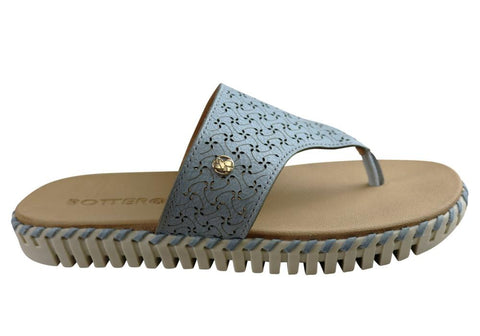 Bottero Bahamas Womens Comfort Leather Thongs Made In Brazil