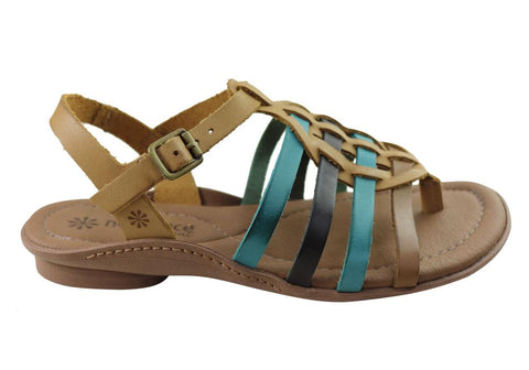 New Face Mari Womens Comfortable Leather Sandals Made In Brazil