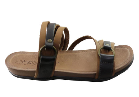 New Face Flick Womens Comfort Leather Slides Sandals Made In Brazil