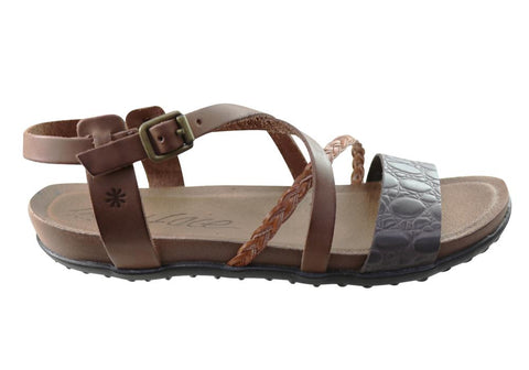 New Face Laurina Womens Comfortable Leather Sandals Made In Brazil