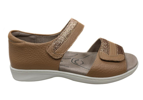 Homyped Dakota Womens Supportive Comfortable Leather Wide Fit Sandals