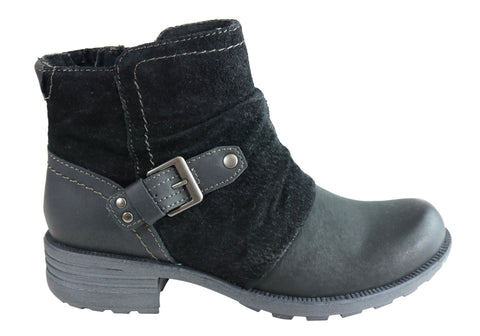 Planet Shoes Peyton Womens Comfy Leather Ankle Boots With Arch
