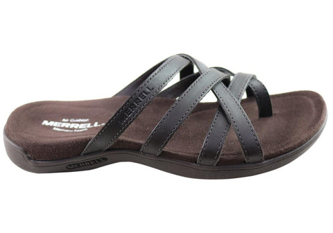 Merrell Womens Hayes Thong Leather Comfortable Sandals