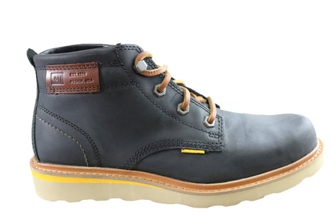 Caterpillar Jackson Mens Leather Comfortable Lace Up Boots