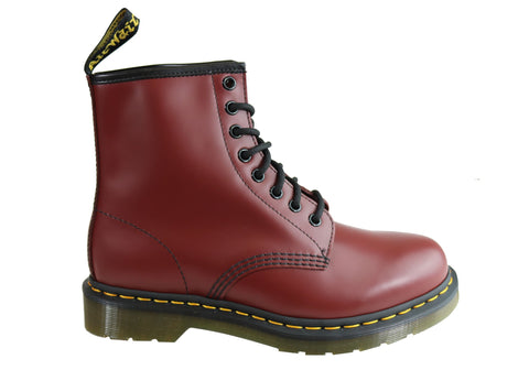Dr Martens 1460 Cherry Smooth Unisex Leather Lace Up Fashion Boots