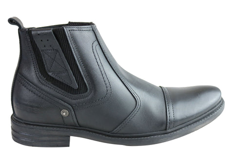 Pegada Cole Mens Leather Comfortable Cushioned Boots Made In Brazil