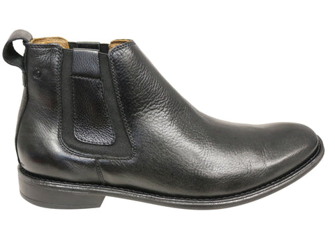 Sollu Marty Mens Comfort Leather Chelsea Dress Boots Made In Brazil
