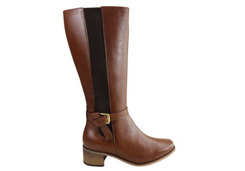 Comfortshoeco Sara Womens Leather Knee High Boots Made In Brazil