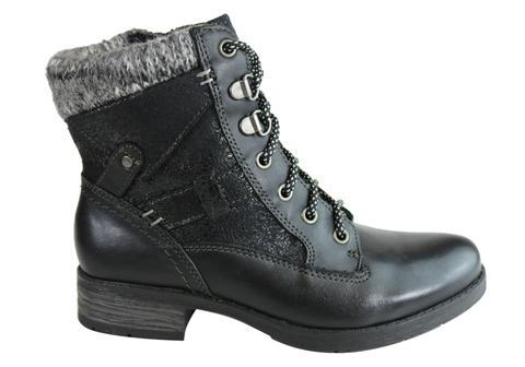 Planet Shoes Marieka Womens Leather Ankle Boots With Arch Support