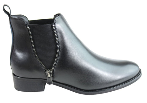 Villione Etty Womens Comfortable Leather Ankle Boots Made In Brazil