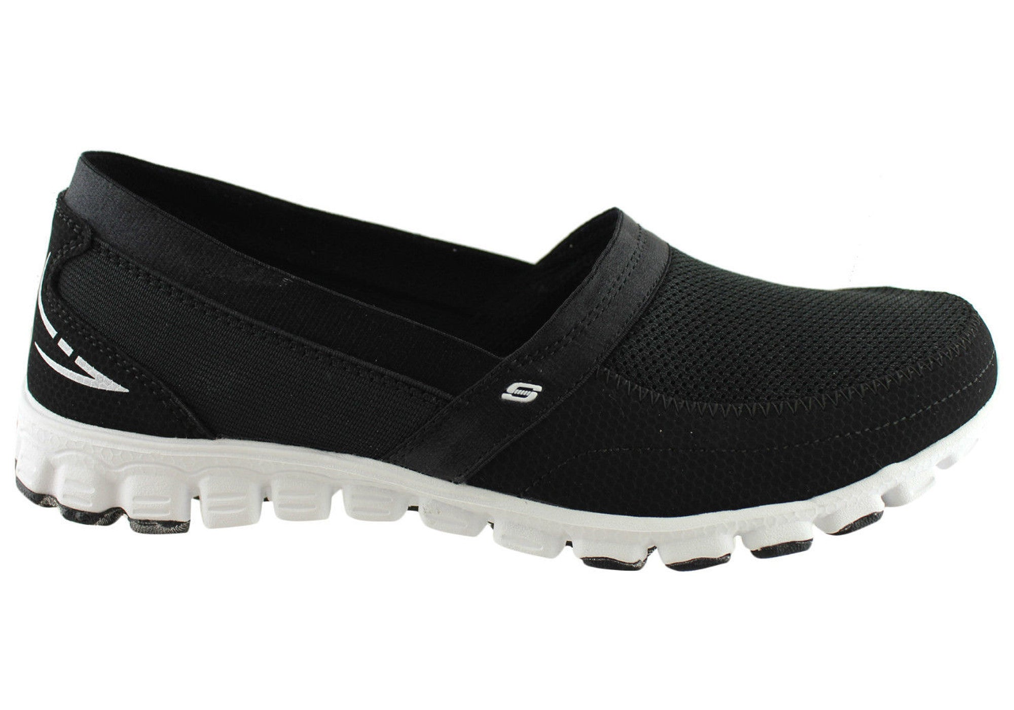 7749f0fc3ba2 Home Skechers Ez Flex Take It Easy Womens Memory Foam Shoes. Black  ...