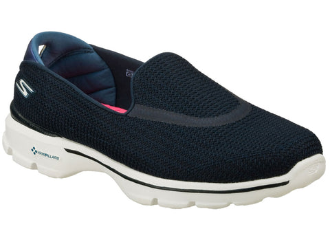 Skechers Go Walk 3 Womens Lightweight Cushioned Comfort Slip On Shoes
