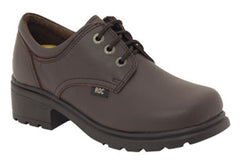ROC Caper Older Girls/Ladies Brown School Shoes