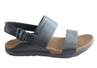 Merrell Womens Around Town Luxe Backstrap Comfortable Leather Sandals