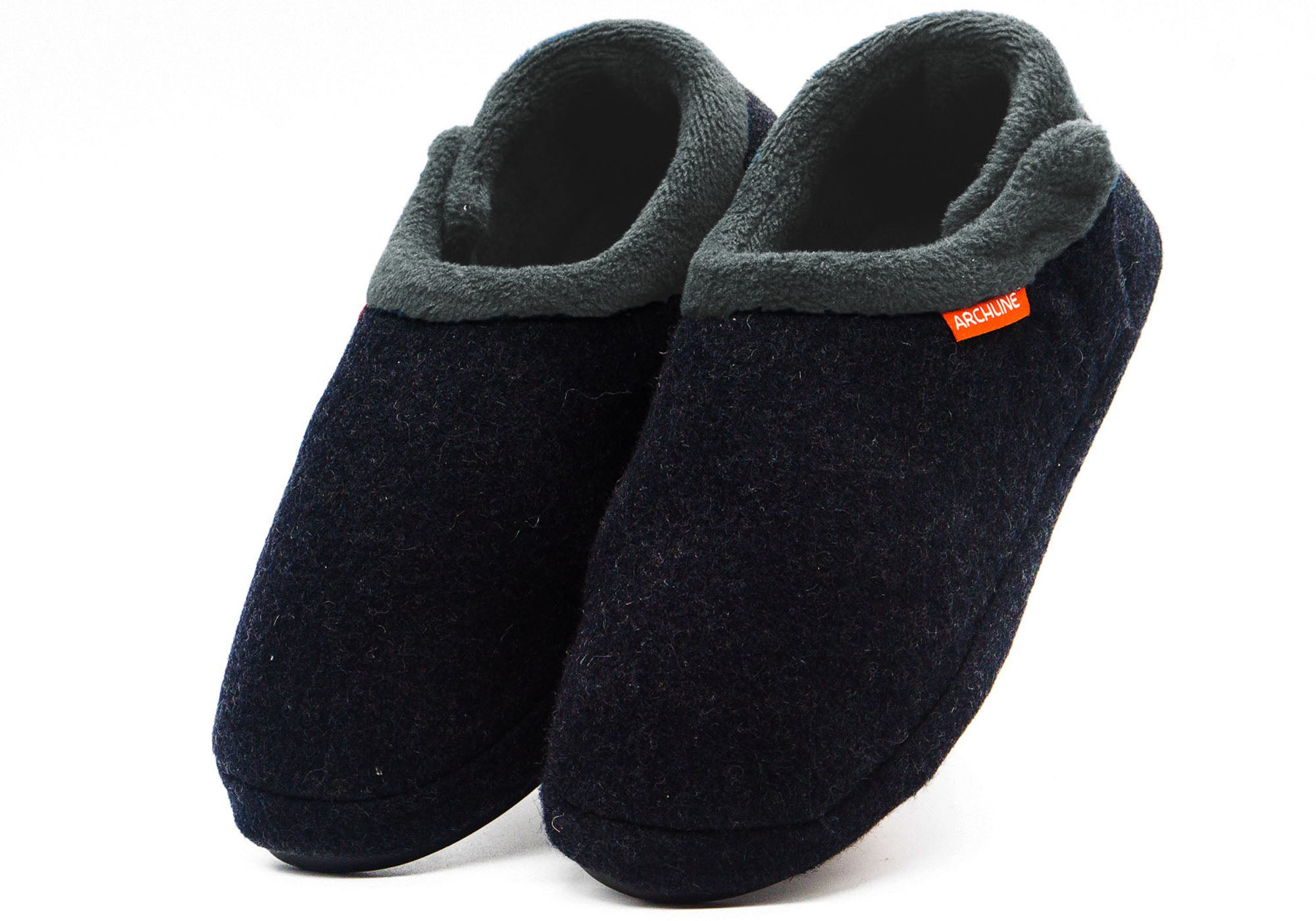 26a60b9cf Home Archline 2018 Model Womens Closed Toe Comfort Orthotic Slippers.  Charcoal Marl ...