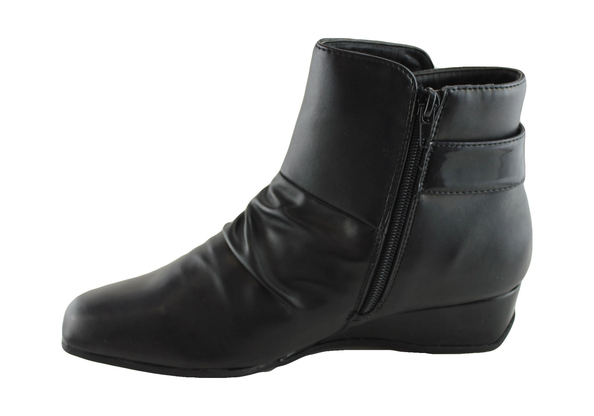 Grosby Trix Womens Low Heel Ankle Boots