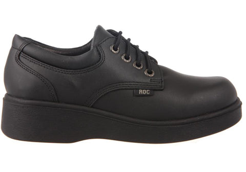 Roc Scary Senior Womens/Older Girls Platform Leather School Shoes