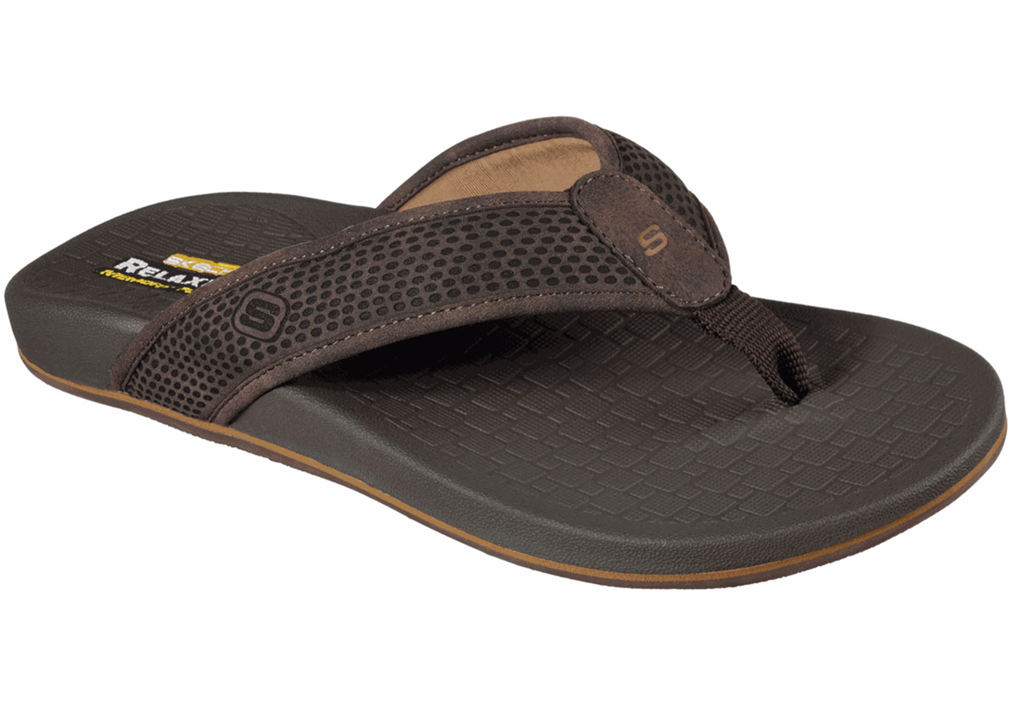 Details about Brand New Skechers Pelem Emiro Mens Relaxed Fit Memory Foam Comfortable Thongs