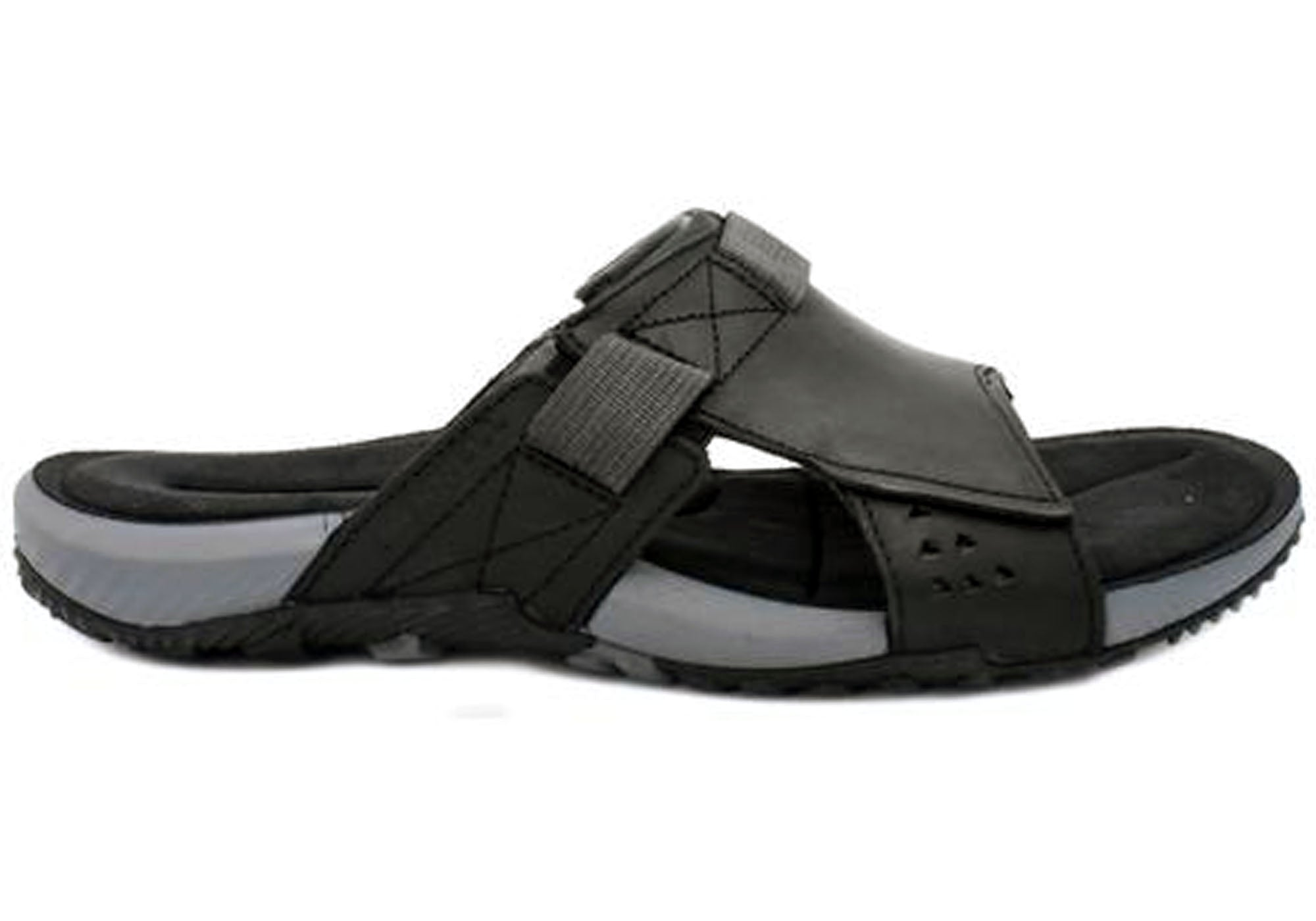 b474c0d915e3 Home Merrell Terrant Slide Mens Comfortable Leather Sandals. Dark Earth ·  Black · Black ...