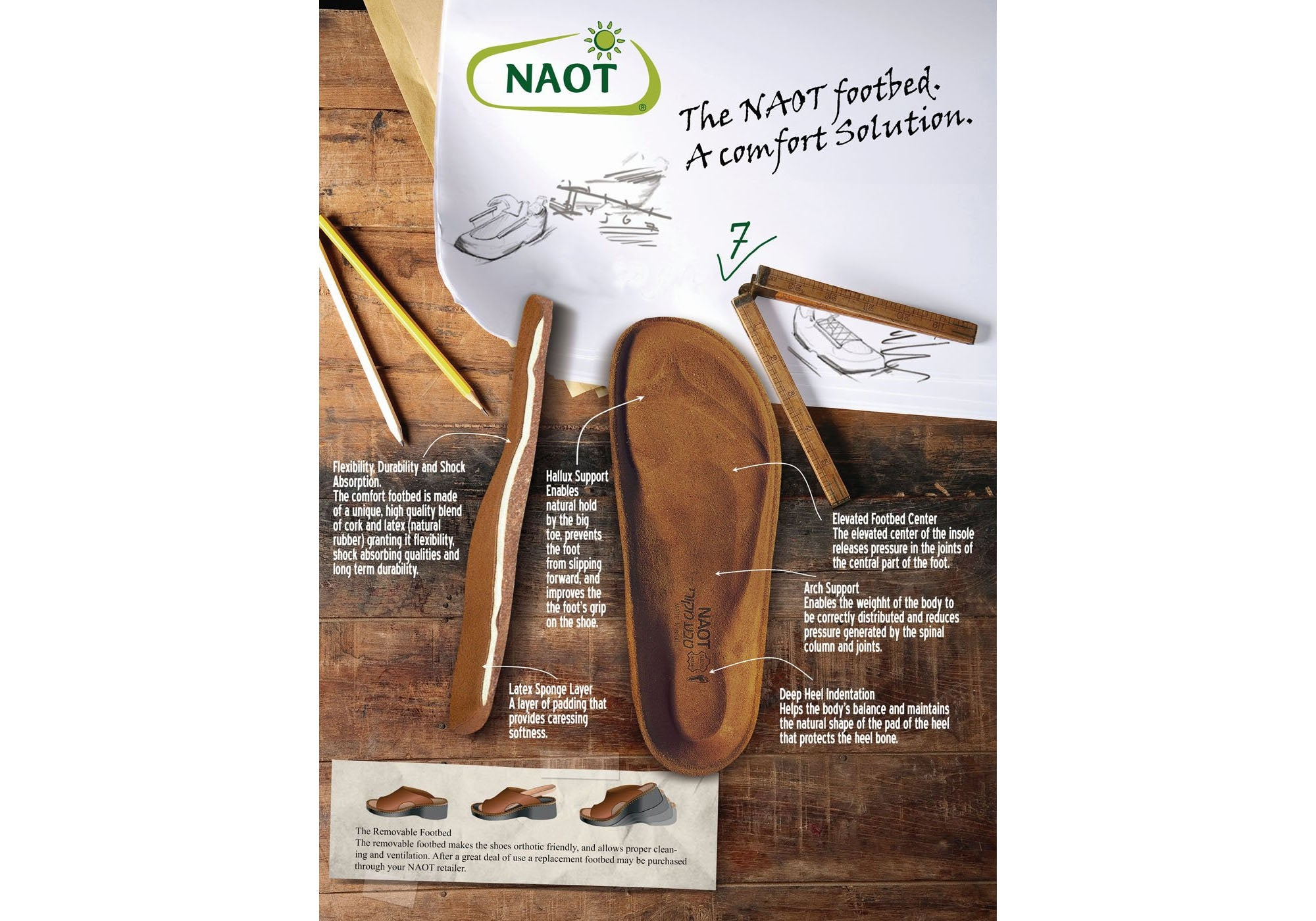 Naot Dorith Womens Comfort Cushioned Supportive Flat Leather Sandals