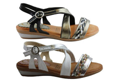 Cabello Comfort 3716 Womens Leather Sandals Made In Spain
