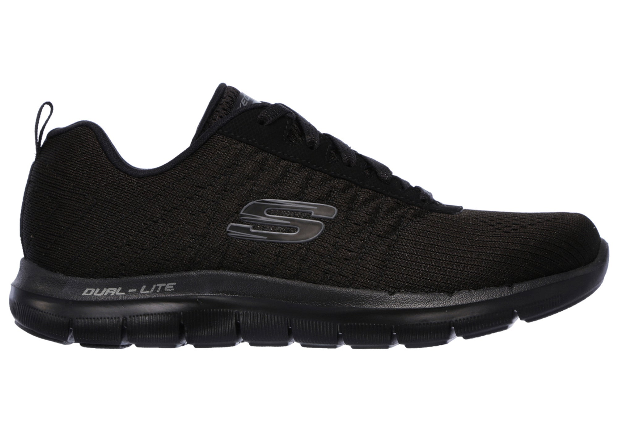 Home Skechers Flex Appeal 2.0 Break Free Womens Memory Foam Athletic Shoes.  Black ... 56104aee7