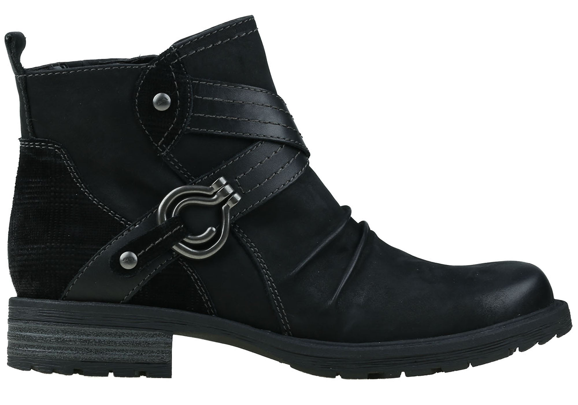 New Earth Cushioned Laurel Donna Comfortable Cushioned Earth Leather Ankle Boots 206843