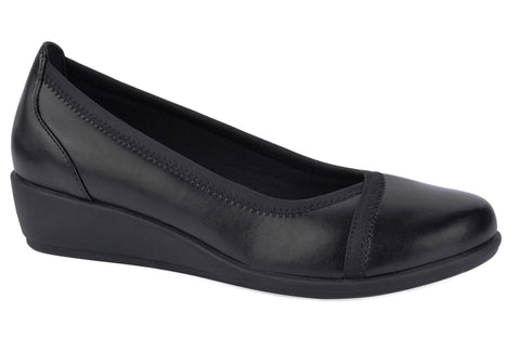 Grosby Mara Womens Comfortable Low Wedge Shoes