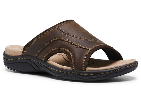 Hush Puppies Alex Mens Leather Comfortable Slide Sandals
