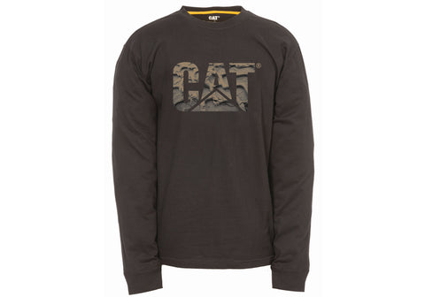 Caterpillar Mens Custom Logo Long Sleeve Tee