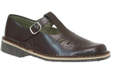 Harrison Idaho T-Bar Senior and Youths Leather School Shoes