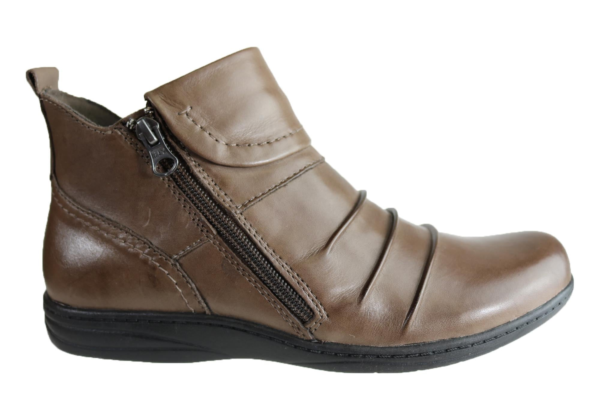 e7be01cb45d1d Home Planet Shoes Ripple Womens Comfort Leather Ankle Boots. Taupe Brown ...