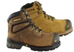 "Caterpillar Brakeman 6"" Side Zip Steel Toe Work/Safety Boots Mens"