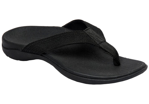 62ac7322e Black  Navy  Axign Mens Comfortable Supportive Orthotic Flip Flops Thongs  ...