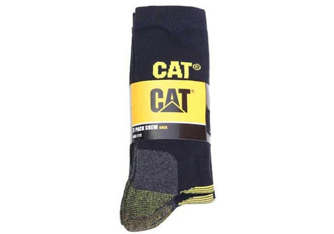 3 Pairs of Caterpillar Mens Everyday Essential Crew Socks