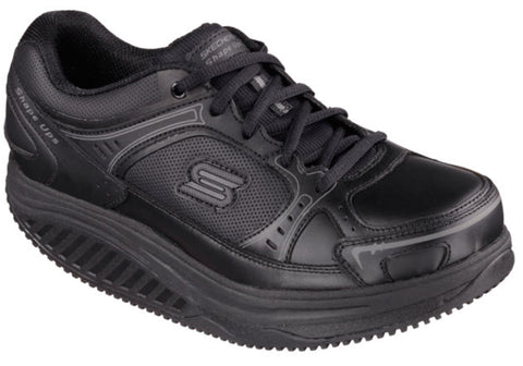 Skechers Shape Ups Maisto Womens Leather Slip Resistant Shoes