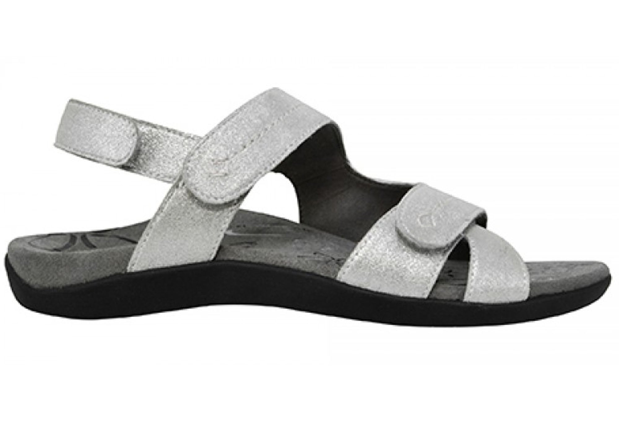5a7eea46a0d Home Scholl Orthaheel Maya Womens Comfortable Supportive Leather Sandals.  Black ...