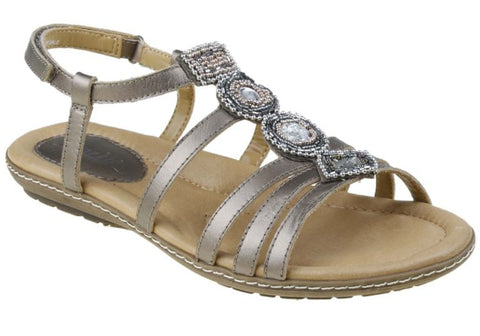 Earth Seaside Womens Leather Comfort Sandals